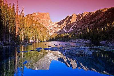Water Photograph - Dream Lake Sunrise by Brian Kerls