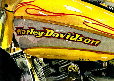 Harley Davidson Motorcycle Painting - Dream Machine Hd by Spencer Meagher
