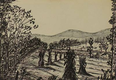 Autumn Landscape Drawing - Dream Of Home by Michael Anthony Edwards