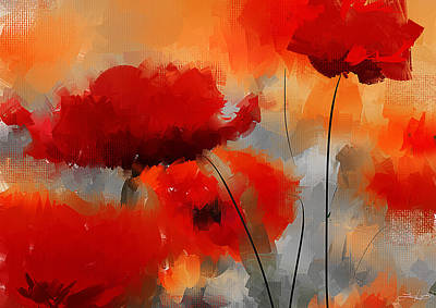 Orange Poppy Painting - Dream Of Poppies by Lourry Legarde