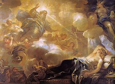 Painting - Dream Of Solomon by Luca Giordano