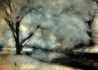 Dreamy Trees By The Stream Art Print by Gothicrow Images