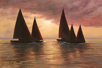 Autumn Painting - Dream Sails by Diane Romanello