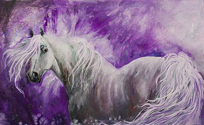 Art Print featuring the painting Dream Stallion by Sherry Shipley