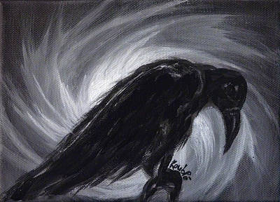 Crow Painting - Dream The Crow Black Dream. by Rouble Rust