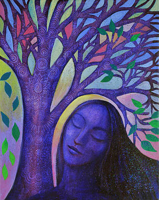 Tree With Eye Painting - Dream Tree by Alice Mason