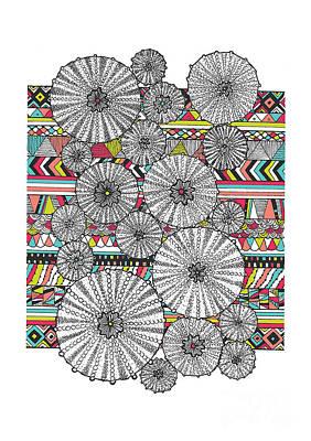 Umbrellas Digital Art - Dream Urchins by Susan Claire