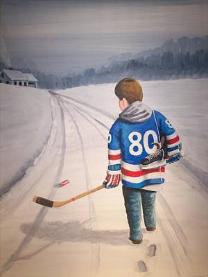 Nhl Winter Classic Painting - Dream Walking - 80 Olympics by Ron  Genest