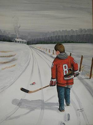 Nhl Winter Classic Painting - Dream Walking - Alex by Ron  Genest