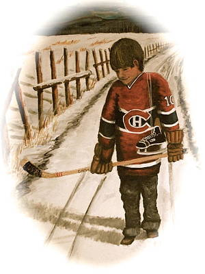 Nhl Winter Classic Painting - Dream Walking - Lil Hab II by Ron  Genest
