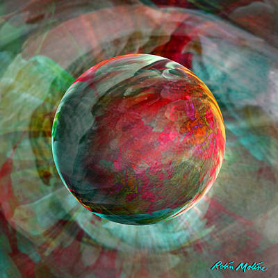 Round Digital Art - Dream Weaving by Robin Moline