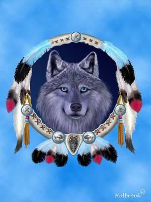 Dream Wolf Art Print