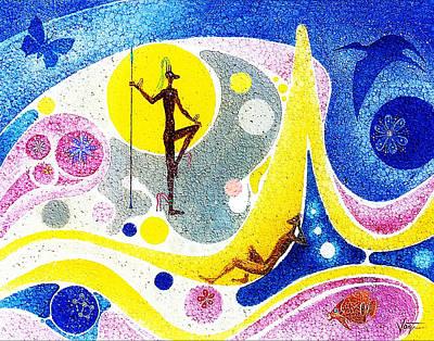 Dream World Art Print by Hartmut Jager