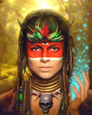Ajna Painting - Dreamcaster by Ace Layton