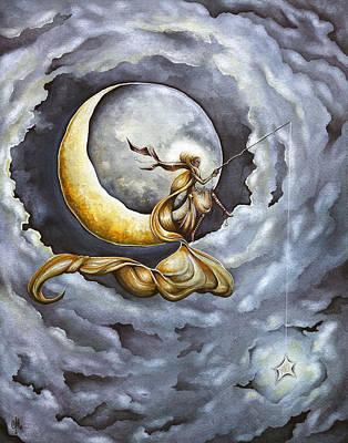 Celestial Painting - Dreamcatcher by Christina Meeusen