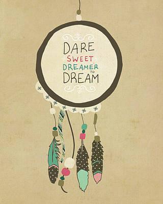 Dreamcatcher Art Print by Lisa Barbero