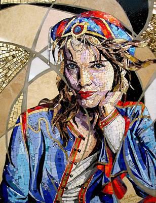 Marble Eyes Mixed Media - Dreamer by Carole  Choucair Oueijan