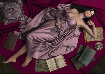 Woman Daydreaming Digital Art - Dreamer by Rachel Dudley