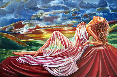 Painting - Dreamgirl  by Yelena Rubin
