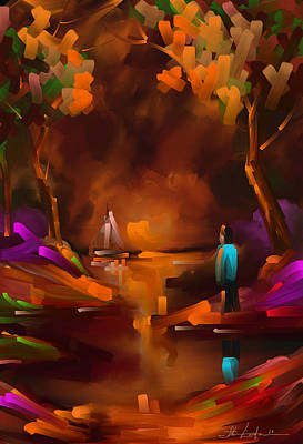 Dea Painting - Dreamin Orange by Steven Lebron Langston