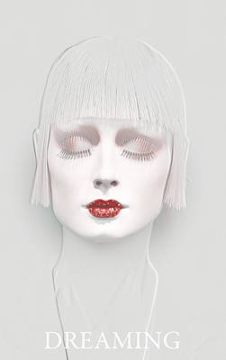 Lips Digital Art - Dreaming 2 by Steve K