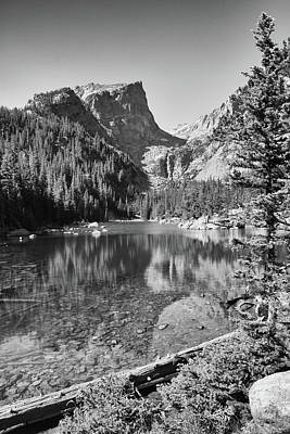 Photograph - Dreaming At Dream Lake - Black And White by Harold Rau