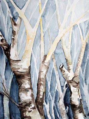 Dreaming Birch Trees Original by Barbara Pommerenke