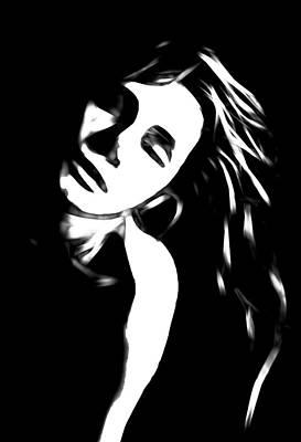 Innocence Painting - Dreaming Girl by Steve K