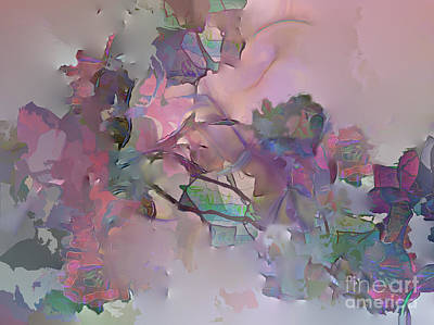 Dreaming Of A Rose Garden Art Print by Ursula Freer