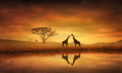Golden Digital Art - Dreaming Of Africa by Jennifer Woodward