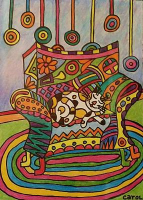 Drawing - Dreaming Of Lollipops by Carol Hamby