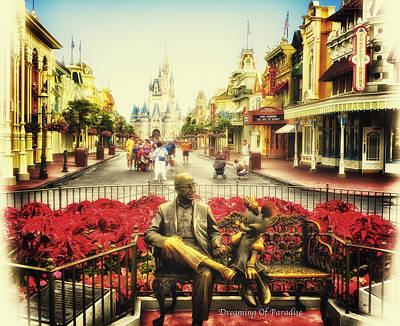 Dreaming Of Paradise Walt Disney World Print by Thomas Woolworth