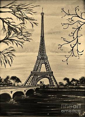 Dreaming Of Paris 2 Art Print by Brigitte Emme