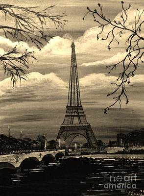 Art Print featuring the painting Dreaming Of Paris by Brigitte Emme