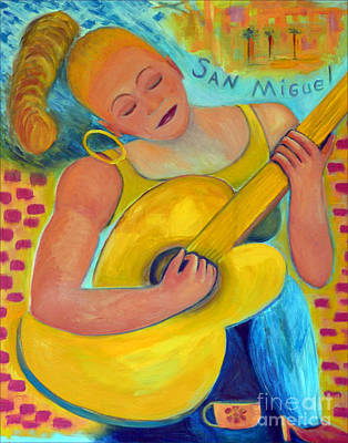Dreaming Of San Miguel Art Print by Karen Francis