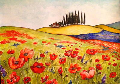 Tuscan Hills Painting - Dreaming Of Tuscany by Rae Chichilnitsky