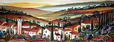 dreaming of Tuscany Art Print by Roberto Gagliardi