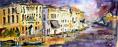 Venice Italy Ginette Painting - Dreaming Of Venice Canale Grande by Ginette Callaway