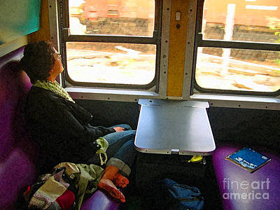 Photograph - Dreaming On A Train by Karen Adams