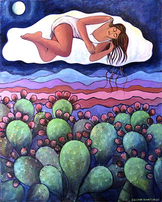 Painting - Dreaming Over The Charco by Susan Santiago