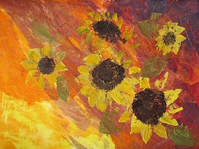 Dreaming Sunflowers Art Print