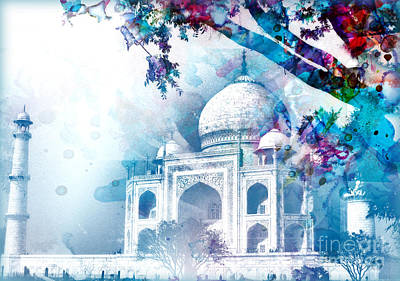 Indian River Digital Art - Dreaming Taj Mahal by Prajakta P