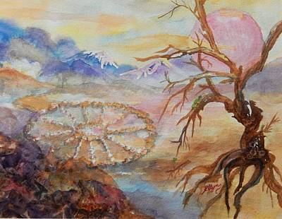 Painting - Dreaming The Medicine Wheel by Ellen Levinson