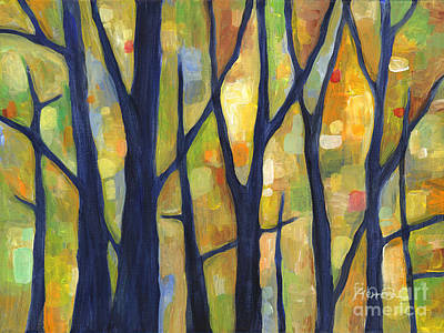 Nature Abstracts Painting - Dreaming Trees 2 by Hailey E Herrera