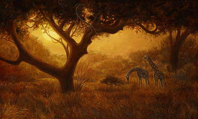 Africa Wall Art - Painting - Dreamland by Lucie Bilodeau