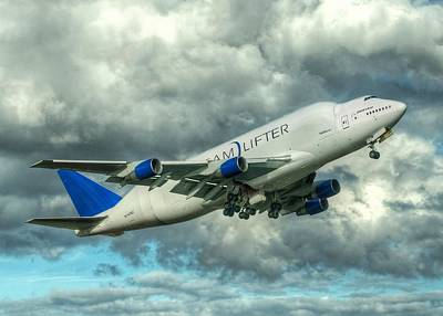 Art Print featuring the photograph Dreamlifter Takeoff by Jeff Cook