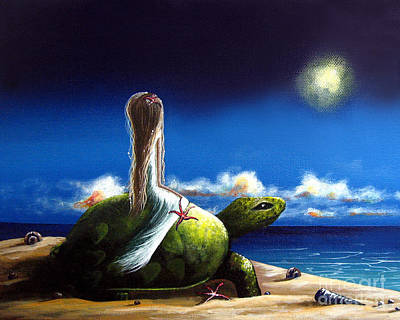 Ocean Turtle Painting - Dreams Before I Awake By Shawna Erback by Shawna Erback