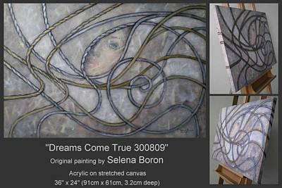 Art Print featuring the painting Dreams Come True 300809 by Selena Boron
