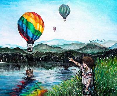 Art Print featuring the painting Dreams Do Come True by Shana Rowe Jackson