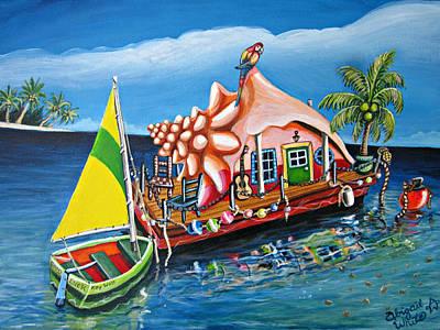 Dreams Float Original by Abigail White